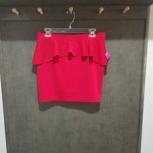 NWT-Candie's Tango Red Mini Skirt - Size Large